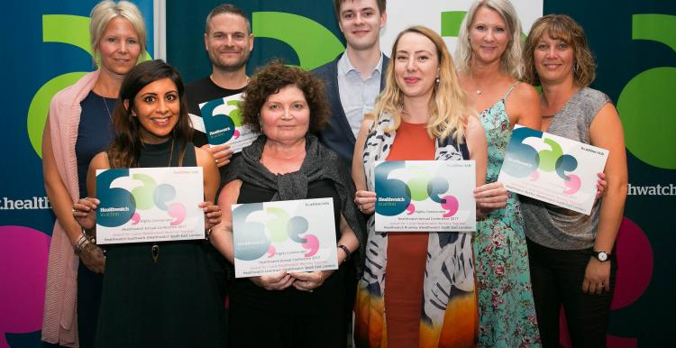 Group of winners from the 2019 Healthwatch network awards