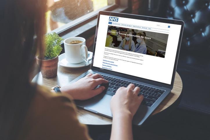 computer user viewing website